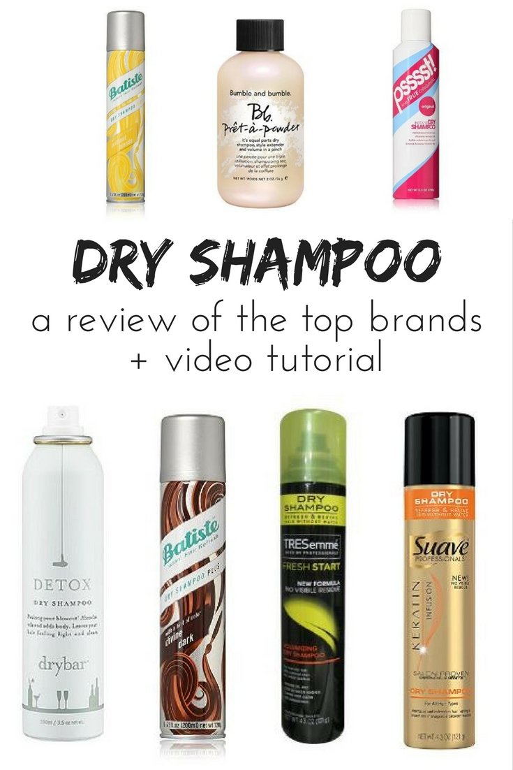 A review of the best dry shampoo brands and a dry shampoo tutorial video.