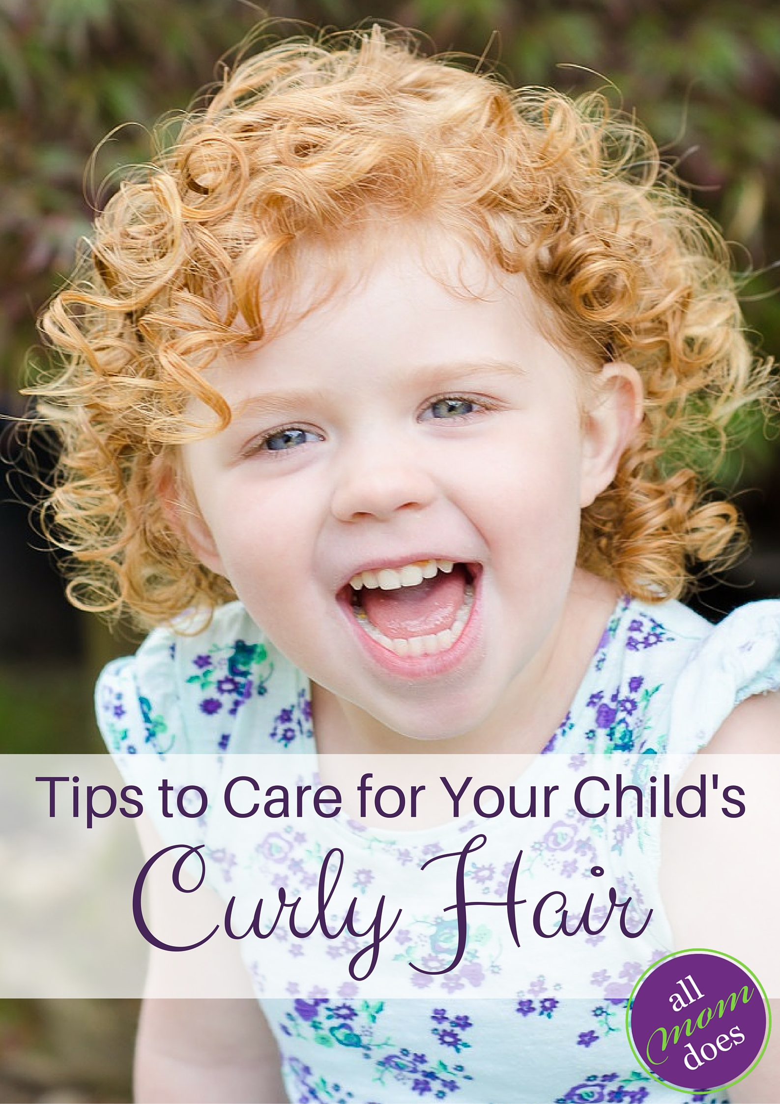Does your child have curly hair? Tips and products to care for curly hair on kids.